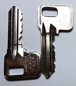 Replacement locker key