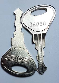 Locker lock keys