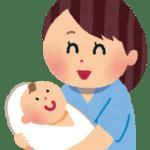 赤ちゃんの夜泣きで寝不足になる女性のイラスト
