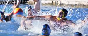 Water polo backhand shot