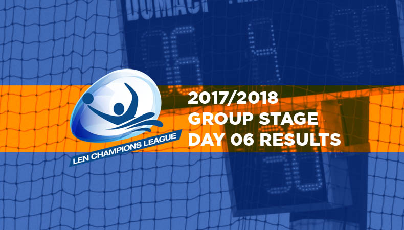 LEN-champions-league-2017-2018-Group Stage Day 06 Results