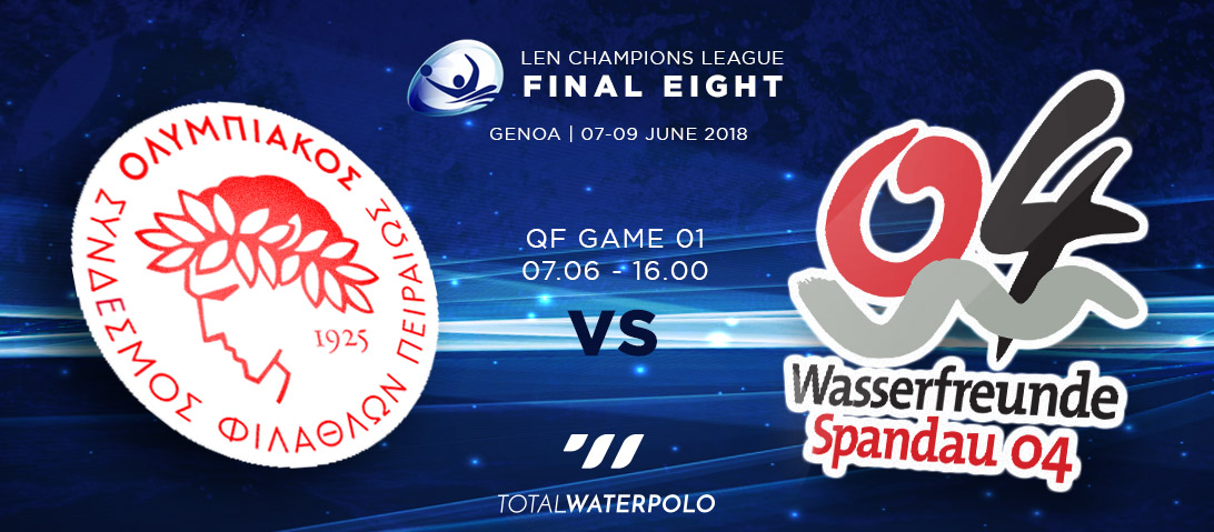 LEN Champions League 2018 Final Eight Genoa Quarterfinals 01