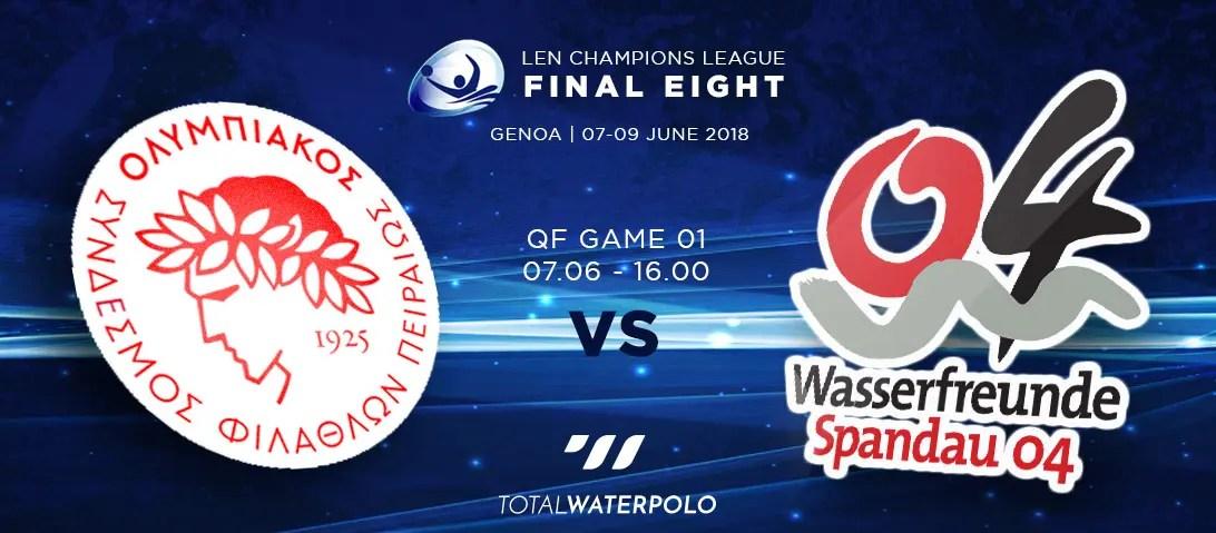 LEN Champions League 2018 Final Eight Genoa Quarterfinals 01