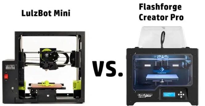 LulzBot Mini vs Flashforge Creator Pro