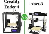 Creality Ender 4 vs Anet 8