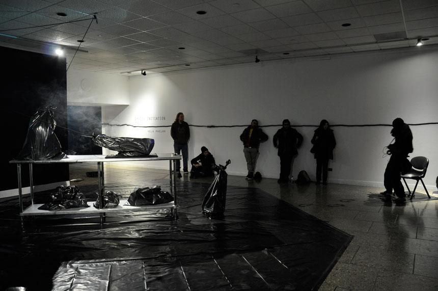 Vela Phelan, Shadow Initiation Spell, Harbor Gallery, UMass Boston, 2012, image@Alice Vogler