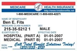 Medicare Card Ben E Fits