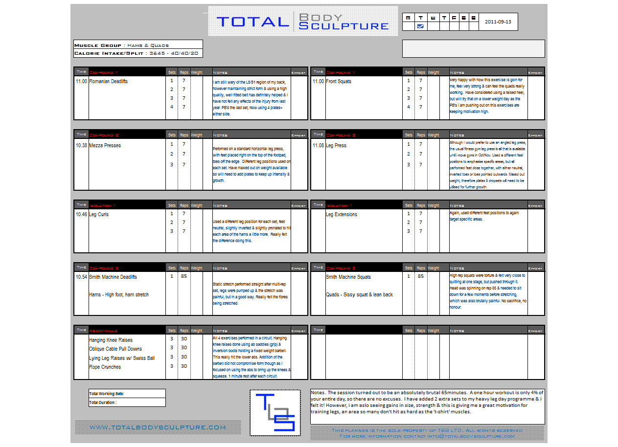 Training Worksheet