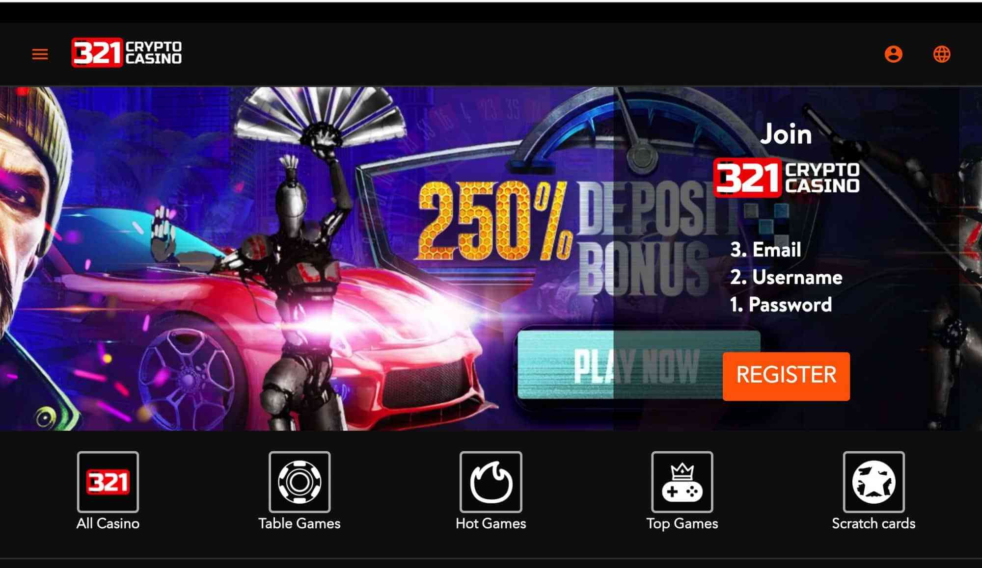 321 crypto casino review promo code: BONUS250 to receive 250% match bonus on your first 3 deposits! PLUS get 321 crypto casino no deposit bonuses during the week!