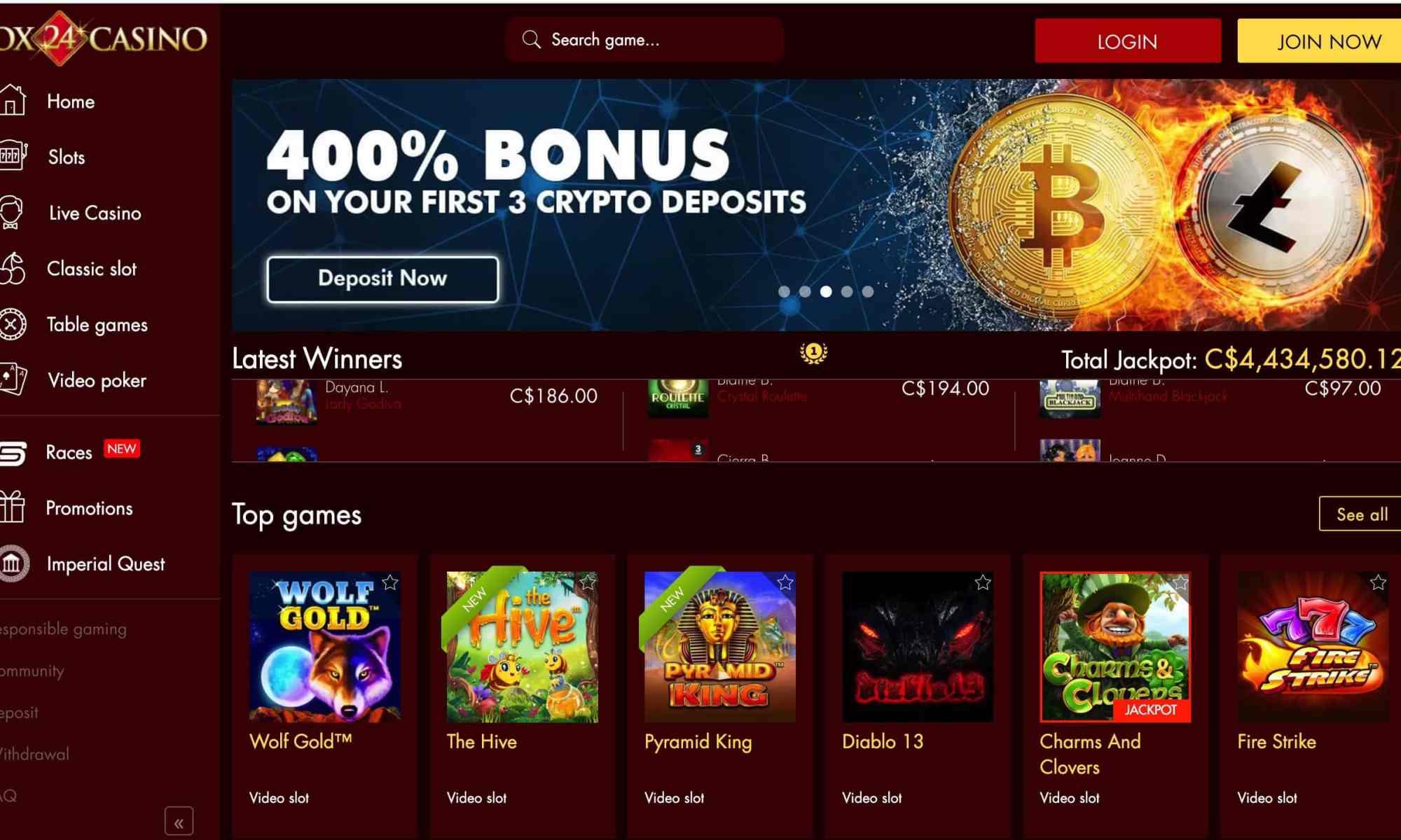 Box24 Casino - Get 135 Spins Plus 1150% Match Bonus