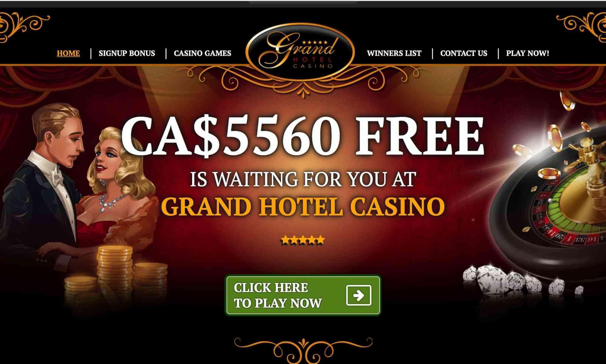 Grand Hotel Casino - get a $€£ 5560 free bonus