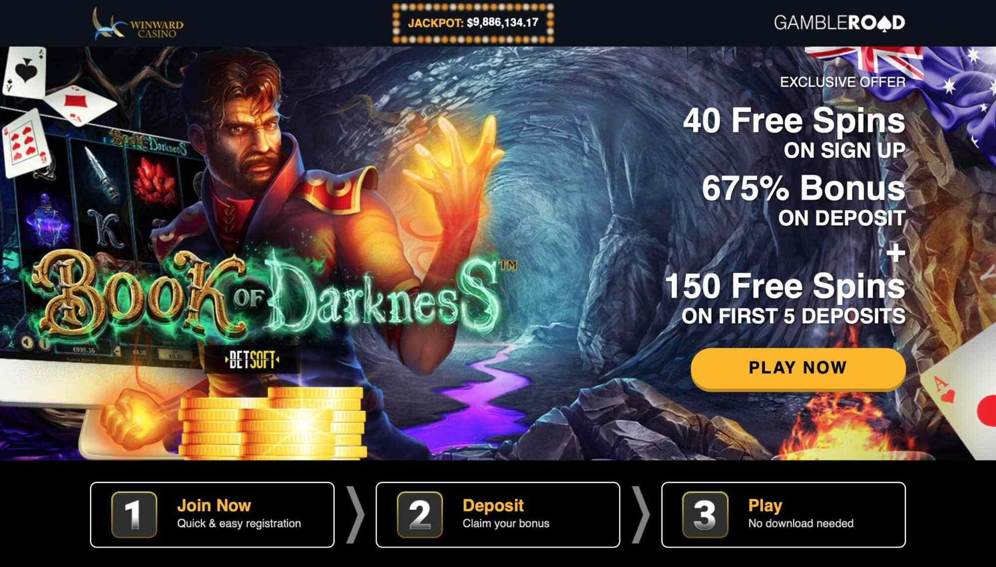 Winward Casino - Get 40 Free Spins On Sign Up