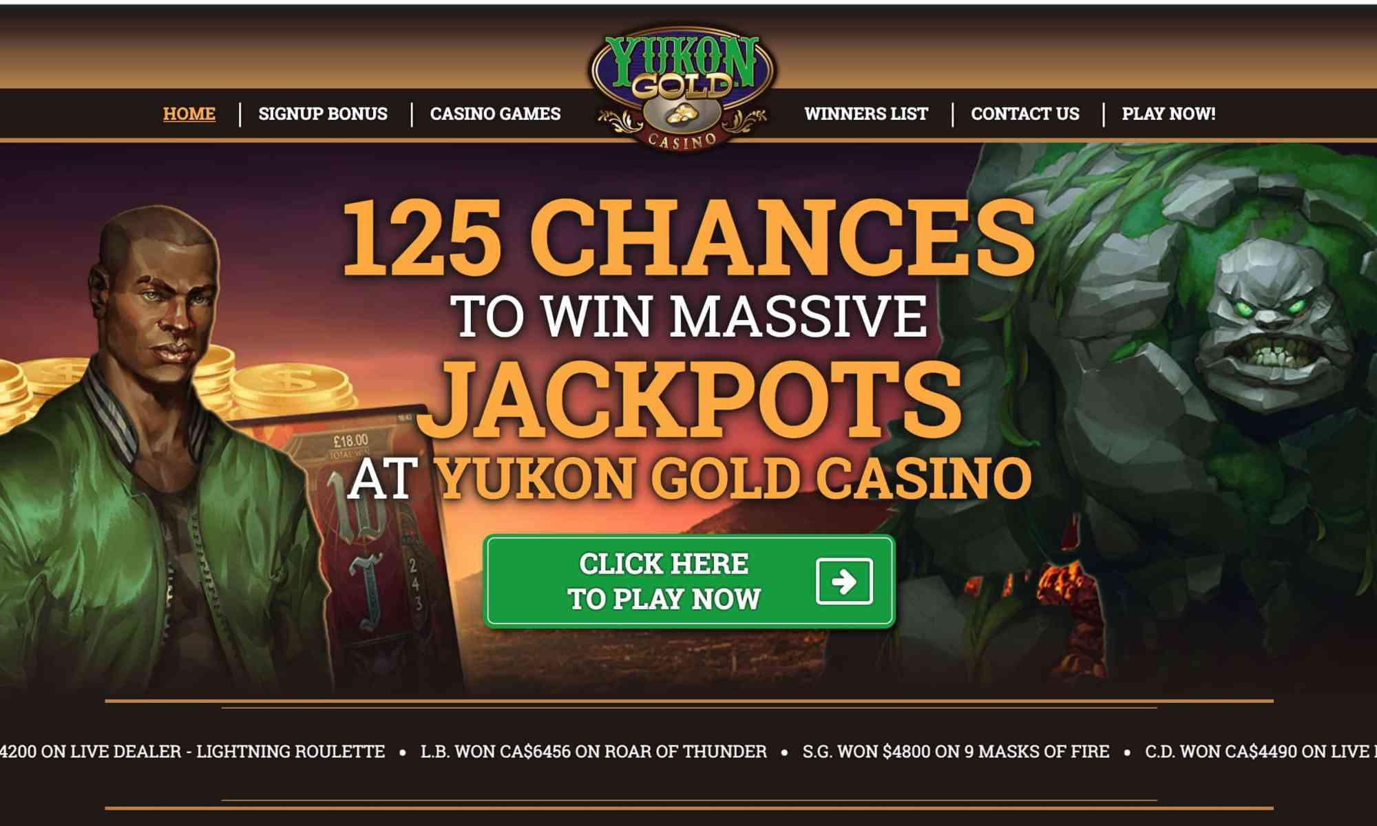 Yukon Gold Casino: Win Jackpots With 125 Chances On Roulette