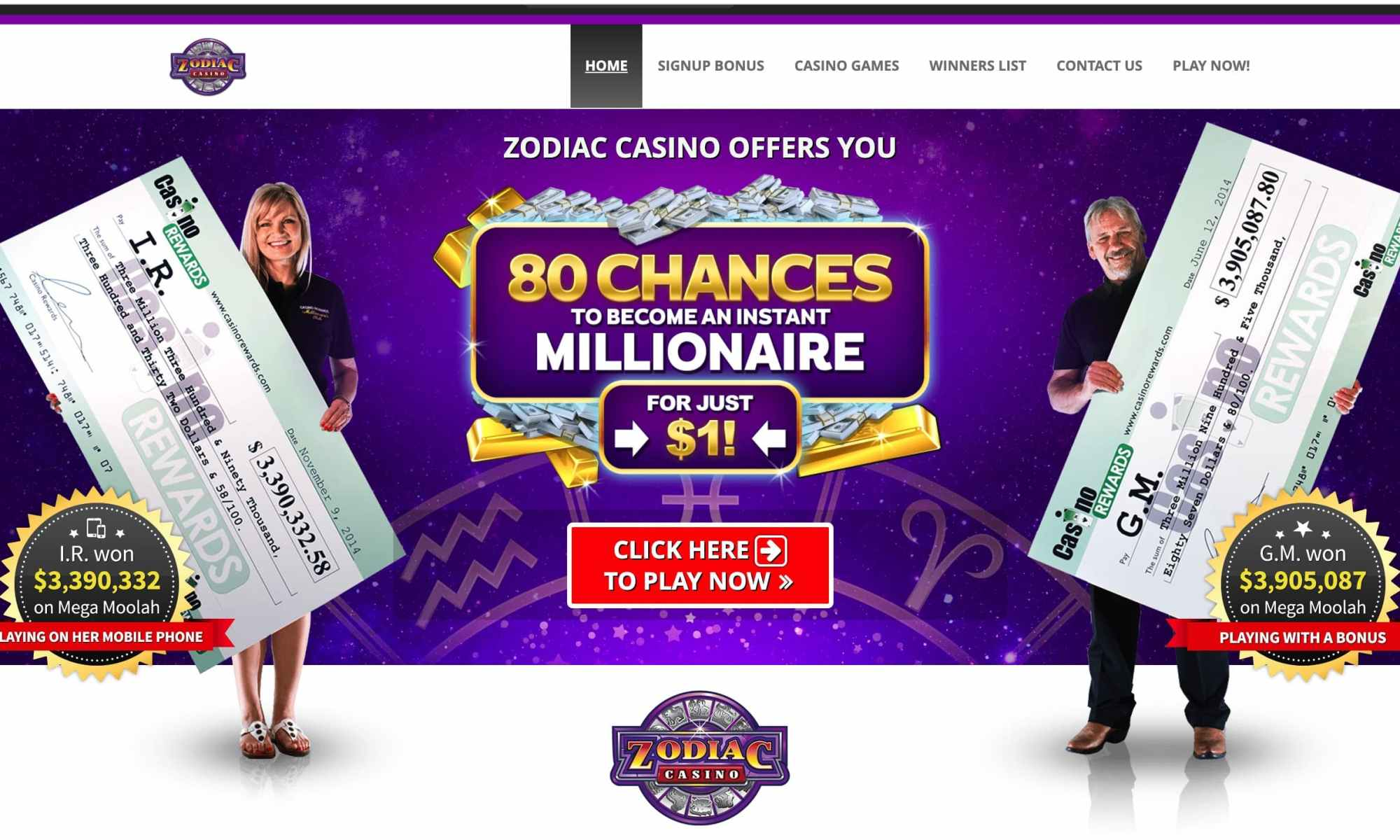 Zodiac Casino: New Progressive Slots For 80 Chances To Win