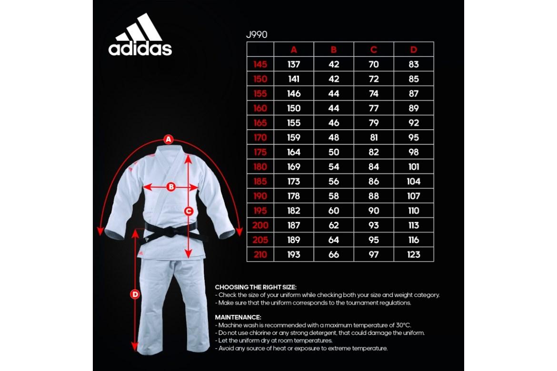 judo suit size