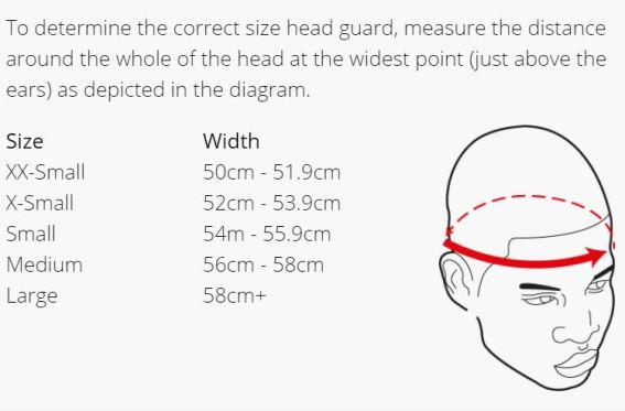dipped foam head size guide