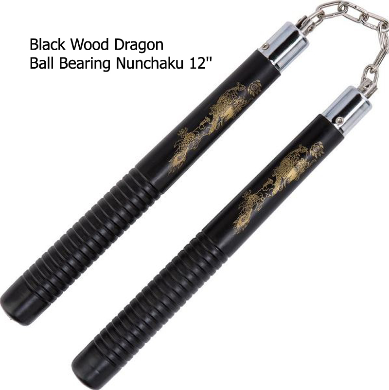 3c1684072 Nunchaku 12 Inch in wood plus hard rubber and safety foam at TCsports