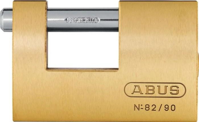 Abus-Monoblock-Padlock-Brass-82-Series-90mm