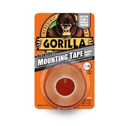 Gorilla-Heavy-Duty-Mounting-Tape-25mm-x-1.5m-Clear