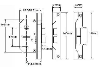 Union-2-Lever-Mortice-Rebated-Sash-Lock-tech-spec