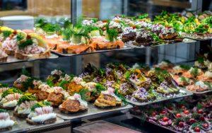 The lunchtime smorrebrod in Torvehallerne, Copenhagen