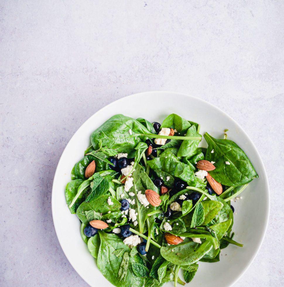 blueberry feta spinach salad