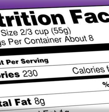 Nutrition Labels menu labeling