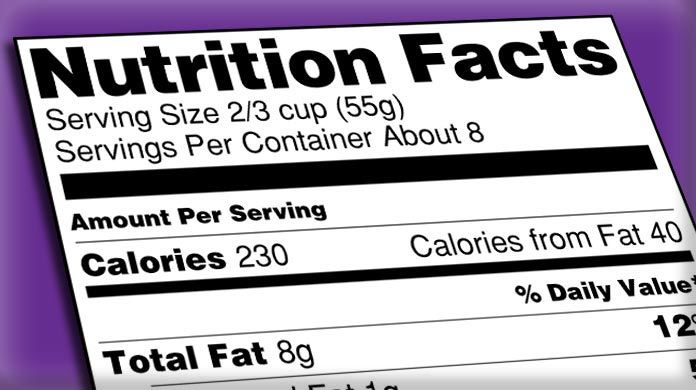Nutrition Labels menu labeling