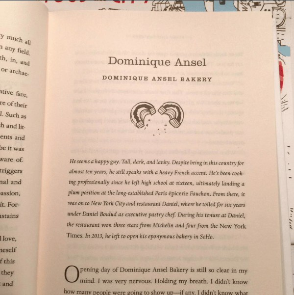 One of the chapters of Ina's new book. Photo courtesy of Ina Yalof's Instagram.