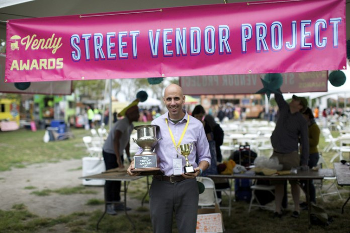 Sean Basinski of Street Vendor Project. Photo by Clay Williams