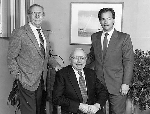 The Family Business: from 1977, Jon Holtz (right), Irving Holtz (Founder, center) and Mannie Holtz (left)