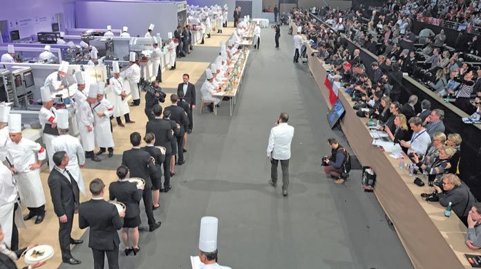 world class competitors in Lyon, France at the 2017 Bocuse D'Or
