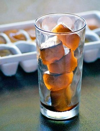 Summer Coffee Ice Cubes coffee beans