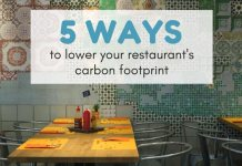 lower your restaurant's carbon footprint