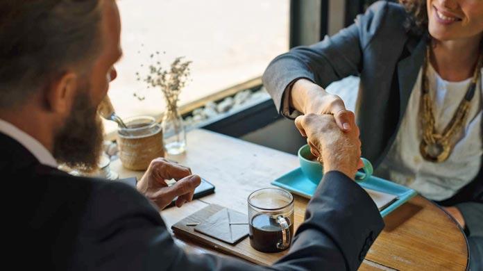 sales selling handshake