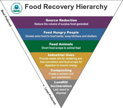 restaurant food waste food recovery hierarchy