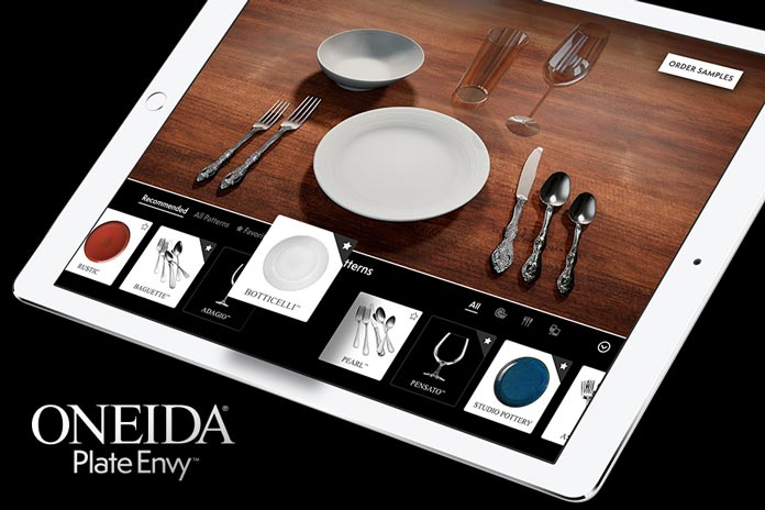 Oneidas innovative plate envy tool disrupts tabletop industry oneida plate envy malvernweather Choice Image