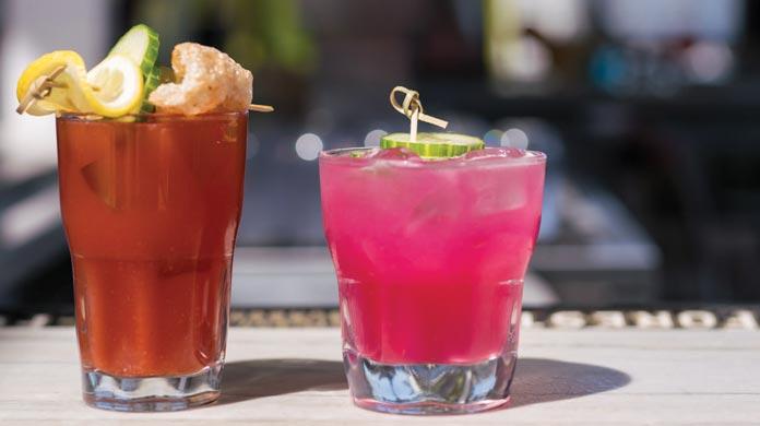 drinks glasses beverage menu