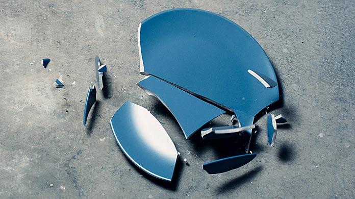 downslide bust broken dish