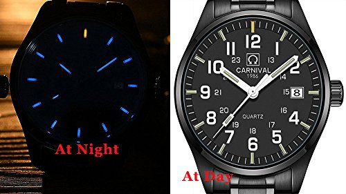 Blue Luminous Tritium Watch