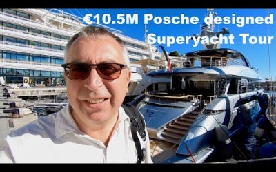 VIDEO: 10.5M Porsche designed Superyacht Tour