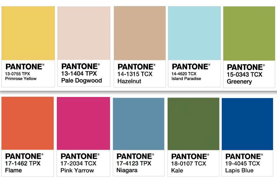 Winter 2014 Pantone Color Chart