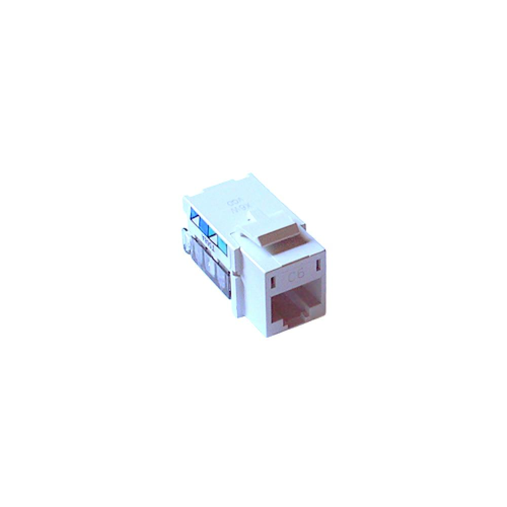 hight resolution of single pack cat 6 phone jack white