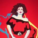 Sham Ibrahim Pop Art Tribute to Kelly LeBrock Headlines at Art Hearts Fashion