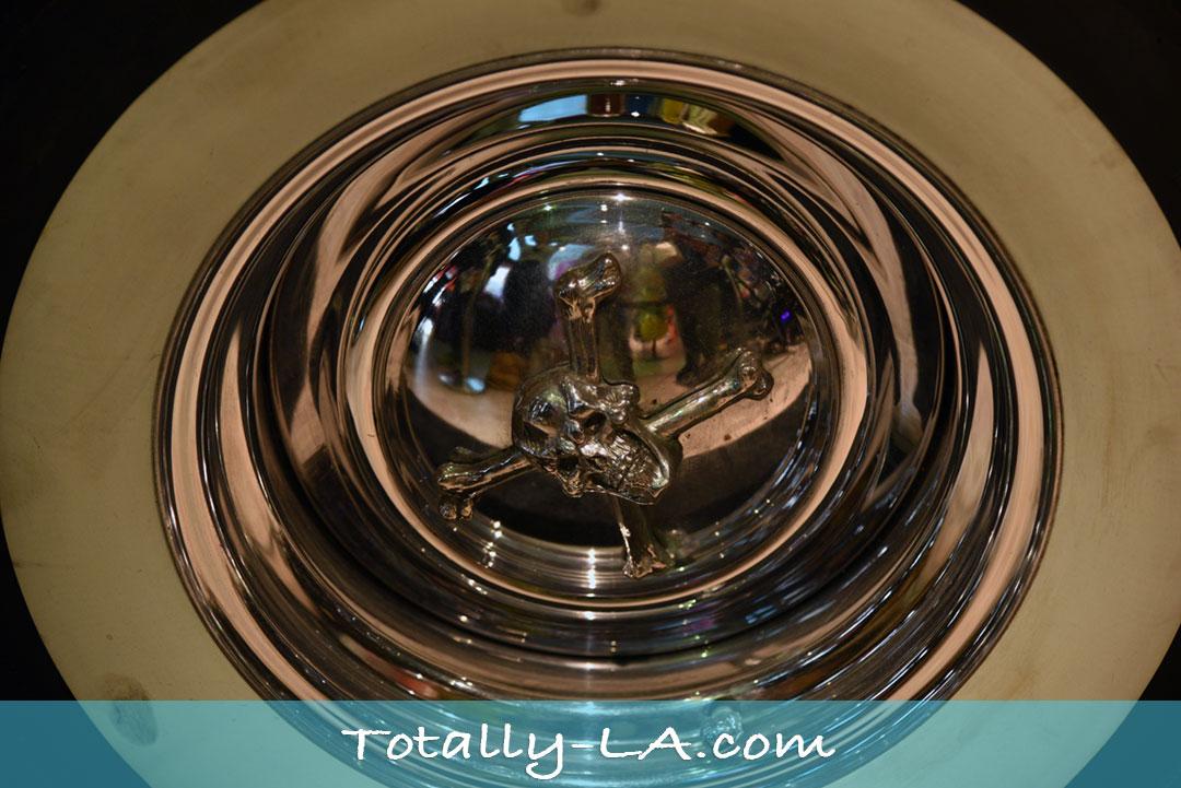 Skull and Crossbone hubcaps Elvira Thunderbird
