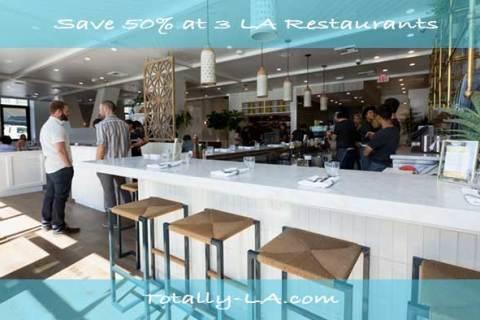 Save 50% at Three Renowned LA Restaurants