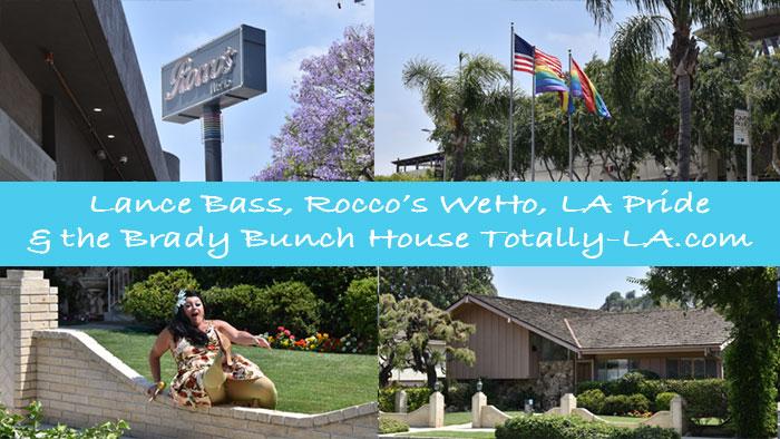 Lance Bass, Rocco's WeHo, LA Pride Brady Bunch House