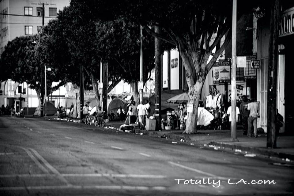 Skid Row in Los Angeles