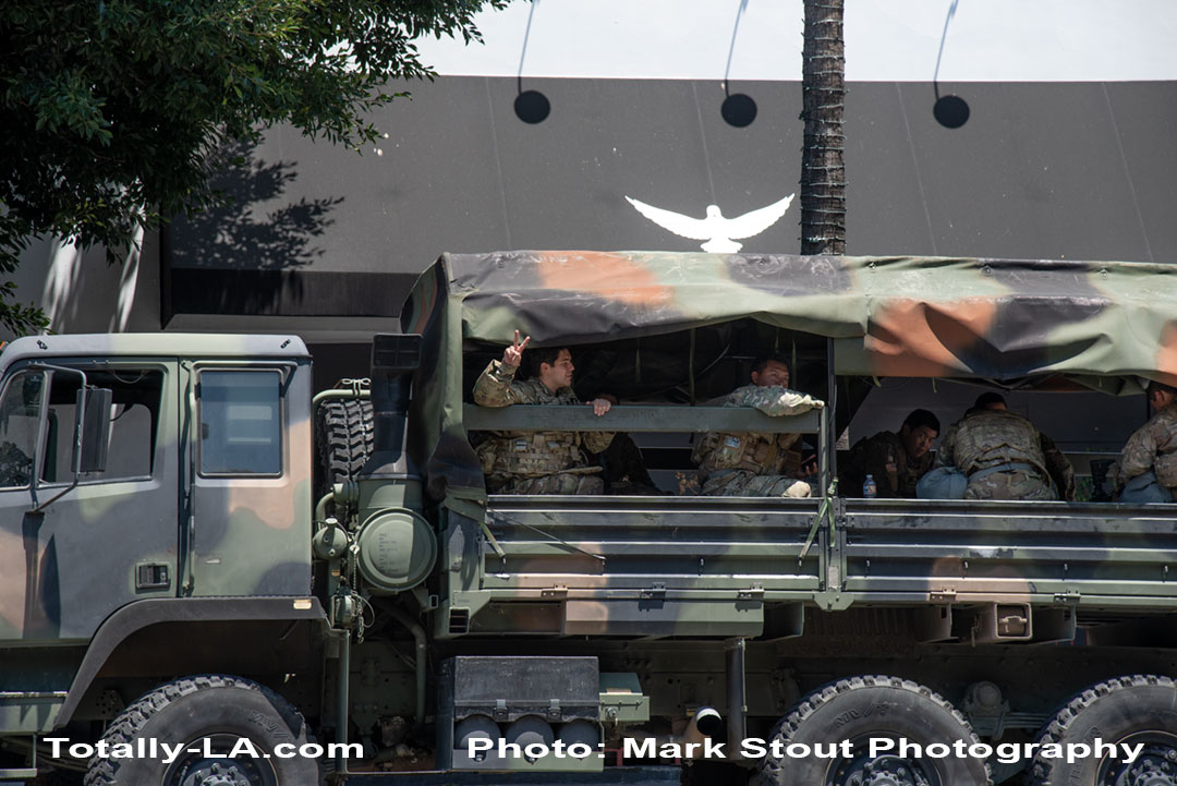 National Guard in Hollywood