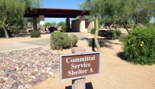 Committal Service Shelter Sign